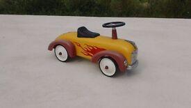 toddler yellow metal ride on toy car