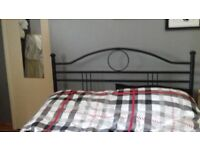 Black double metal bed frame ex quality pick up penicuik