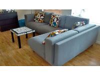 Angle Ikea Grey sofa
