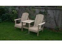 Jack and Jill seat Love Seat Twin seat Garden chair Summer seat furniture set Loughview Joinery LTD