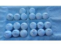 Used Titlesit golf balls