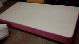 Pink single bed base