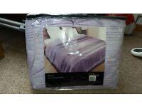 Lilac purple silk bedspread. Brand New