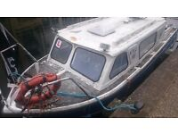 22 feet cabin cruiser 600 ono boat project with outboard and fuel tank