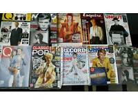 Bowie magazines with cds.