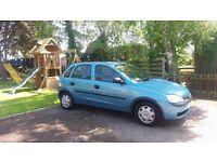 Vauxhall Corsa 2001 1.2 litre 5 door hatchback 1 years mot 67,500 miles