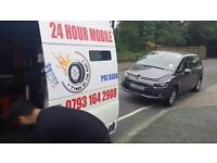 24hour mobile tyre emergency services east london puncture flat tyres fitter fitting service 24hr