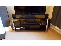 Glass TV stand for sale! 3 tier black glass stand VGC in use daily