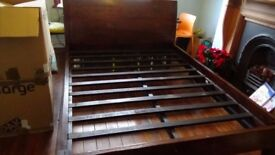 Barker And Stonehouse Queen Sized Bed. Incredible Quality (No Screws)