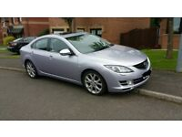 Mazda 6 2.5 SL Saloon; Full black leather; Heated seats; FSH; Great condition; MOT to April 19