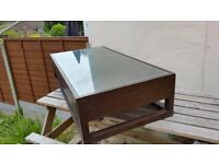 Dwell coffee table brown wooden colour