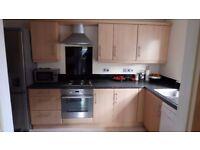 used kitchen units (includes hob, oven, dishwasher, sink, tap, extractor fan, worktop)
