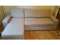 3-seater corner sofa-bed with storage room (still in warranty) smoke & pet free house
