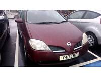 Nissan Primeria, clean, one year MOT. Perfect car and very reliable.