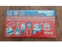 Set of 8 MOD fridge magnets