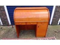 1960,S ...Egon Ostergaard Danish Designer Retro 1960,s Compact Roll Top Bureau Desk V.G.C