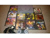 PS1 Console & 10 Games