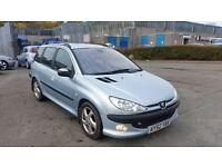 2002 (52 Reg) Peugeot 206 2.0 HDI SW For Sale, £595, 12 Months Mot on Sale & 3 Months Warranty