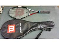 for sale Tenis racket wilson hammer classic in very good condition!with case! Can deliver or post!