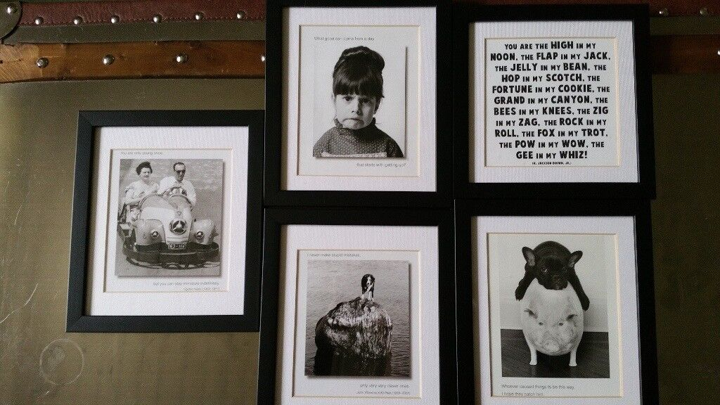5 Fun Small Framed Black And White Prints In Torphins