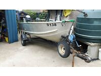 14 ft aluminium boat /trailer for sale