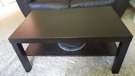 Dark brown ikea coffee table