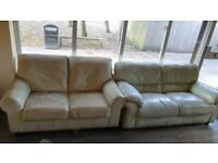 Leather white sofa for free