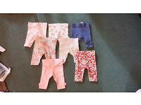 Baby girl up to 1 month leggings