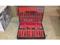 Canteen of Cutlery in solid wood presentation box 70 pieces approx.