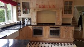 kitchen - 16 units and 10 metres of wooden panelling. 5 metres of black granite