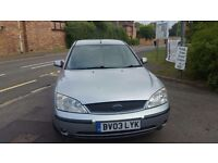 Ford Mondeo 2.0 TDCI Zetecn2003. Finished in lovely metallic silver paintwork.