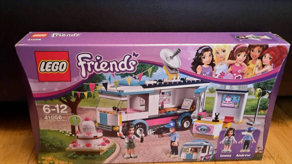 Never fully built  Lego Friends News van 41056 (discontinued set) | in  Swindon, Wiltshire | Gumtree
