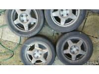 4 stud 5 spoke alloy wheels