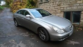 Mercedes CLS 350 Auto Coupe. 2005. Silver.