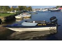 Picton 14 foot speed boat mercury blue band 50hp 2 stroke snipe trailer