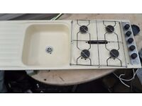 Spinflo 4 ring hob sink and drainers