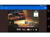 "Acer predator 4k 28"" g sync gaming monitor"