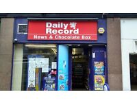 Newsagents for sale, located in central glasgow. JUST YARDS FROM CENTRAL STATION