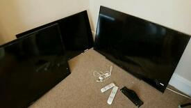 3X TV'S FOR SPARES OR REPAIR ( SCREEN DAMAGE) LAPTOP,STEREO &TABLE