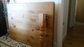 Solid pine table & 4 chairs.