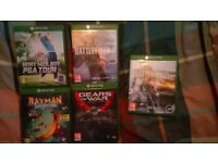 Five xbox one games