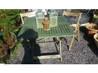 Garden table x2 chairs lanterns £20 the lot