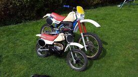 yamaha yz 490 yz50 classic motorcross,restoration project, road registerd