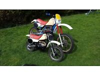 yamaha yz 490 yz50 classic motorcross,restoration project, road registerd