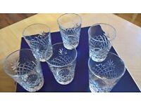 Hand Cut Watford Crystal Glasses x 6 in original box