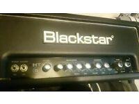 Blackstar ht5 head and two 1x12 blackstar speaker cabinets