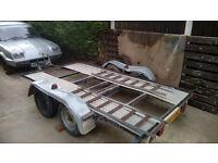 Twin wheel car transporter/trailer