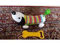 pull along musical phonics alphabet dog