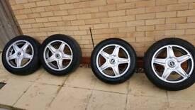 "Mini Wheels 16"" with Good Runflat Tires"