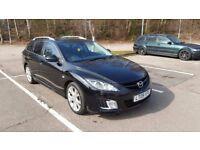 Mazda 6 Sport. 2.2 diesel, 185BHP. Estate in metallic black. 109k, MOT to Sept 2018